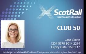 ScotRail Club 50 smartcard